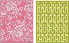 "Quickutz/Lifestyle Crafts EF0013  Tea Party  2  Embossing Folders 4.25""x 5.5"""