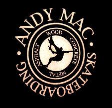 ANDY MAC beat-up T shirt med 2003 skateboarding tee Positive X-Games McDonald