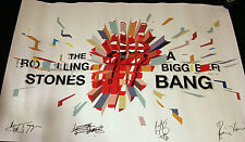 2005 Fan Club Poster THE ROLLING STONES A Bigger Bang Embossed 36 X 24 inches NM