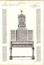 1863 Cluny Museum Cabinet Drawers Folding Doors Ebony Copper Tortoiseshell Art