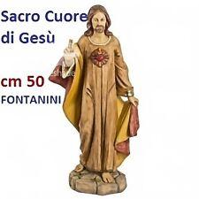 Statua religiosa FONTANINI sacro cuore di gesù cm 50 in resina arte sacra santi