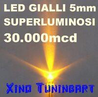 Nr 10 LED GIALLI YELLOW 5 mm 30,000mcd SUPER LUMINOSI