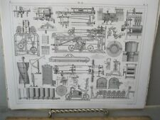 Vintage Print,EALRY MACHINERY 3,Taffle 18,Iconographic,1851