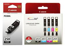 Genuine OEM Canon Printer Ink Cartridges PGI-250 CLI-251 MG5520 MG5620 MG6620