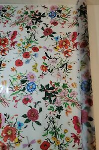 """New 35.4x78.7""""  FLORAL TRELLIS Stained Glass Privacy Static Cling WINDOW FILM"""