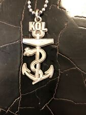 kings of leon Kol necklace / keychain with anchor snake