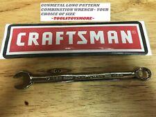 Craftsman Combination Wrench Long Pattern Gunmetal Choice Of Size Free Ship