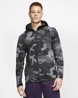 Nike Therma Flex Showtime Basketball Hoodie Black Gray Camo AT4694 2XL