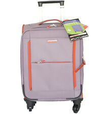 "28"" 4 WHEEL  FIB LIGHT WEIGHT CHECK IN SUITCASE LUGGAGE EXPENDABLE PURPLE"