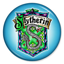 "HARRY POTTER - Slytherin Crest Blue 25mm 1"" Pin Badge Button J K Rowling"