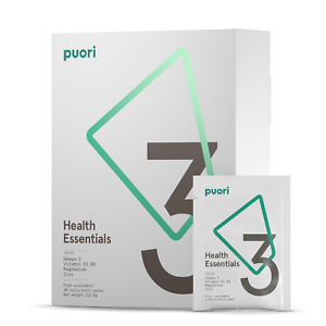Puori P3 Health Essentials Daily Pack 3 x O3 - 3 x M3 - 1 x D3 B6 Zinc Magnesium