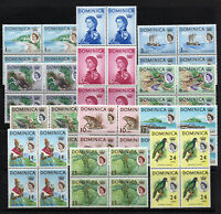 Dominica - SG# 162 - 173 MNH / Blocks of (4)   -   Lot 0820044