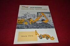 Allis Chalmers Mark Ten Industrial Backhoes Dealers Brochure DCPA3