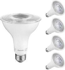DEWENWILS 4-Pack Dusk to Dawn PAR30 LED Bulb Outdoor Flood Light Daylight 5000K