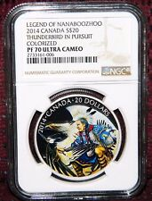 2014 CANADA $20 NANABOOZHOO THUNDERBIRD IN PURSUIT SILVER NGC PF 70 ULTRA CAMEO
