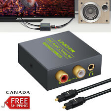 3.5MM Optical Coaxial Toslink Digital to Analog Audio Converter RCA L/R AUX CA