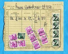 MICHELANGIOLESCA -  £.85 x 4 + £.20 + £.15 x 8  USATI COME SEGNATASSE  (270101)
