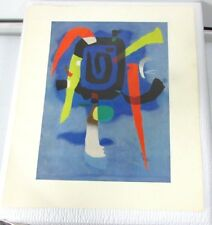 "WILLI BAUMEISTER Print BLUXAO V Abstract 7 3/4""x 10 1/4"" 1960s Vintage"