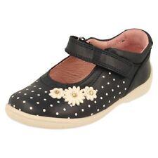 Chaussures bleus avec attache auto-agrippant en cuir pour fille de 2 à 16 ans