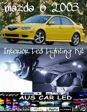 Mazda 6 2003 White led globe bulb interior light upgrade package kit
