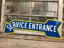 Antique Vintage Old Look  Oldsmobile Service Entrance  Sign Double Sided!