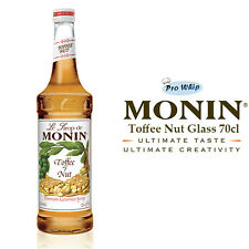 MONIN Coffee Syrups - 70cl Glass TOFFEE NUT Syrup - USED BY COSTA COFFEE