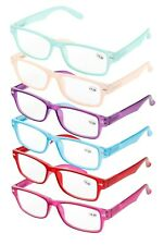 Spring Temple Reading Glasses Pack with Soft Carrying Case - Adult Women's