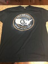 Cole Swindell 2016 Down Home Tour Concert Blue Shirt Country Music Sz Large-Euc