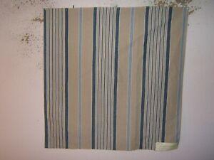 """Ralph Lauren, Cap Ferrat Stripe, Remnant, 26.50"""" W X 27"""" L, Color Azure"""