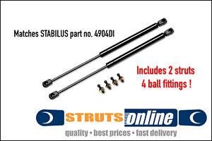2 x NEW gas struts match Stabilus 4904DI 195mm 0150N suit Caravan boot hatch box