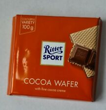 RITTER SPORT COCOA WAFER CHOCOLATE. 5 PACKS. 5x100g. BB 04/03/2021.OUTDATED