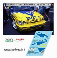 DECALS 1/43 FORD SIERRA COSW DROOGMANS RALLY MADEIRA 1992