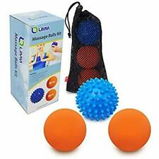 Limm Therapy Massage Ball Set - Lacrosse & Spiky Combo - 2 2.5 inches & 1 2.8 in