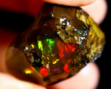 Beautiful Natural Ethiopian Crystal/Chocalate Opal Rough - Flash Fire - 70 cts