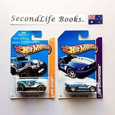 (NEW) x2 HOT WHEELS Toy Cars ~ HW Stunt & HW Showroom (2013 Series).