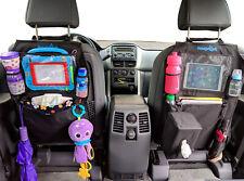 Kids Kick Mats Backseat Organizer 2 Pack Waterproof Car- Tissue Box