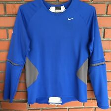 Nike cycling shirt jersey  men size M long sleeve blue  fast dry sphere