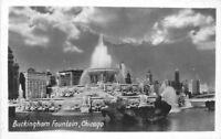 Buckingham Fountain Chicago Illinois 1930s RPPC Photo Postcard 228 Grogan