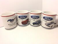 Set Of 4 Mustang Mugs - 2014 GT - 1972 Sprint - 1999 Coupe - Mustang Unites