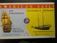 GLENCOE #3303 USS CONSTITUTIONS OLD IRONSIDES & GERTRUDE THEBAUD SHIP NEW IN BOX