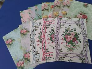 "Anna Griffin Lillian Scrapbook Paper Cardstock 12 - 5"" x 7"""