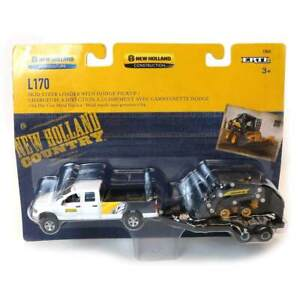 1/64 Dodge Pickup With Trailer And New Holland L170 Skid Steer 13862 ERT13862