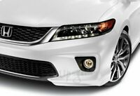 For 13-15 Honda Accord Coupe Painted White HFP Style Front Bumper Spoiler Lip