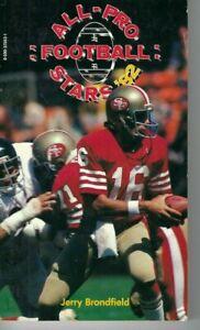 1982 All-Pro Football Stars 82 paperback book Joe Montana San Francisco 49ers VG