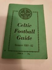 Celtic FC 'Wee Green Book' 1981-82 Football Guide
