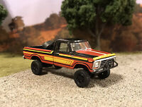 1978 Ford F-250 4x4 Lifted Custom 1/64 Diecast Truck Farm Off Road 4WD Mud F-100