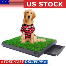 Puppy Pet Potty Training Pad Grass Toilet Trainer Tray Portable Dog Bathroom Mat