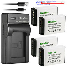 Kastar Battery Slim USB Charger for Canon LPE17 EOS RP Mirrorless Digital Camera