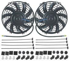 "DUAL 9"" INCH ELECTRIC FANS 12 VOLT ENGINE COOLING FAN 80 WATT ATV MOTOR 1500 CFM"