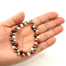 Beautiful Hawaiian Rainbow Style Freshwater Pearl Bracelet